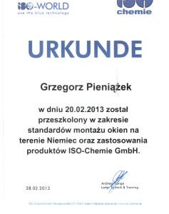 URKUNDE Zoma Grzegorz